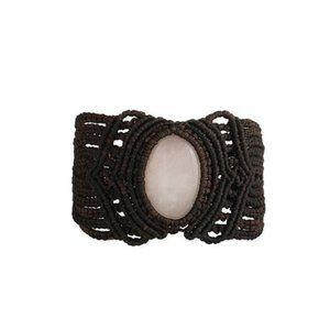 Rose Quartz Crochet Bracelet New Without Tags